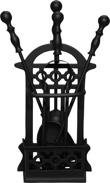 BASKET BLACK Companion Set | Companion Set | Fireplace Tool Set