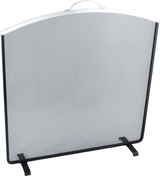 Noble Arched Top Black Fire Guard with Aluminum Trim. Order online